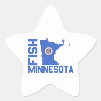 Pegatina En Forma De Estrella Pescados Minnesota