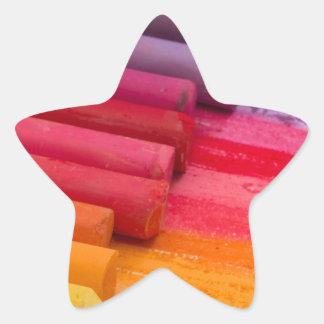 Pegatina En Forma De Estrella piense en color