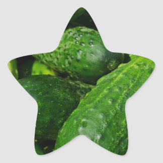 Pegatina En Forma De Estrella pila de los pepinos