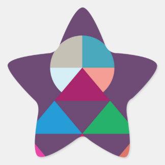 Pegatina En Forma De Estrella Pirámide