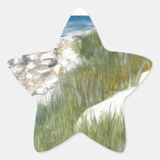 Pegatina En Forma De Estrella Playa de Rügen