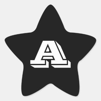 Pegatina En Forma De Estrella Ponga letras a los pegatinas de Vineta de la