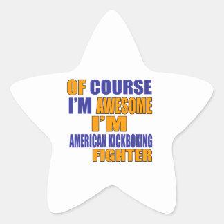 Pegatina En Forma De Estrella Por supuesto soy combatiente de Kickboxing del
