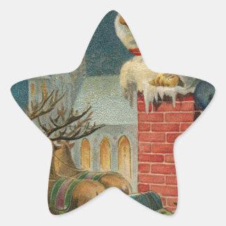 Pegatina En Forma De Estrella Poster clous 1906 de Santa del vintage original