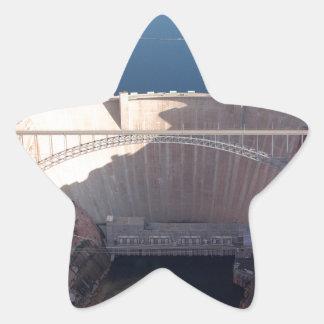 Pegatina En Forma De Estrella Presa y puente, Arizona de Glen Canyon