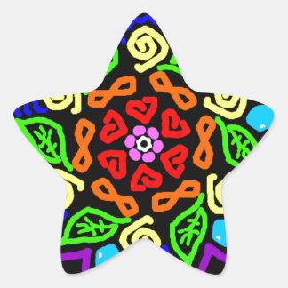 Pegatina En Forma De Estrella Presencia querida