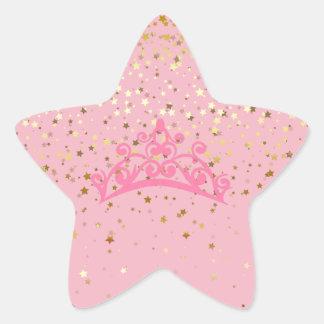 Pegatina En Forma De Estrella Princesa Tiara y pegatinas de las estrellas