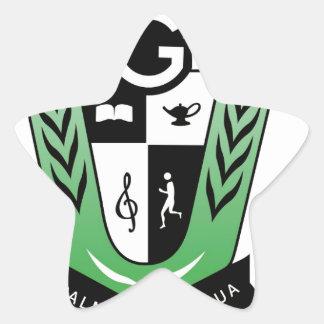 Pegatina En Forma De Estrella Productos del escudo de la reunión de los alumnos