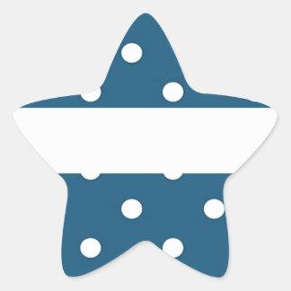 Pegatina En Forma De Estrella puntos, azul y blanco, tira, elegante