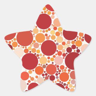 Pegatina En Forma De Estrella puntos de la pizza