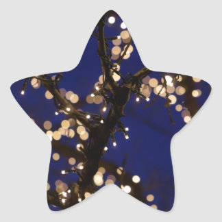 Pegatina En Forma De Estrella Ramas con las luces de navidad