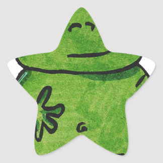 Pegatina En Forma De Estrella Rana Frog