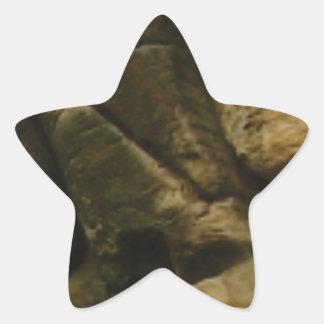 Pegatina En Forma De Estrella rocas grises del estruendo