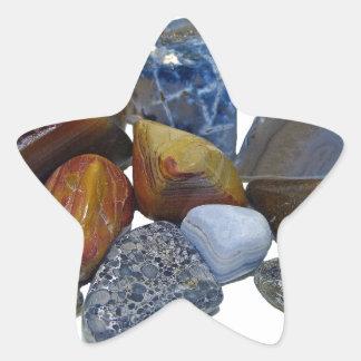 Pegatina En Forma De Estrella Rocas pulidas