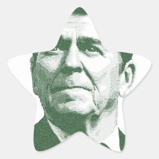 Pegatina En Forma De Estrella Ronald Reagan una nación debajo de dios