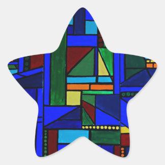 Pegatina En Forma De Estrella Sábado en las razas del velero