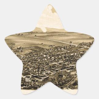 Pegatina En Forma De Estrella schuylerville1889