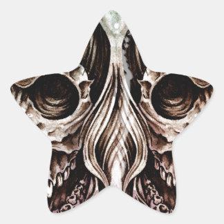Pegatina En Forma De Estrella skull and dragons, Tattoo sketch, handmade design