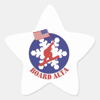 Pegatina En Forma De Estrella Snowboard Alta