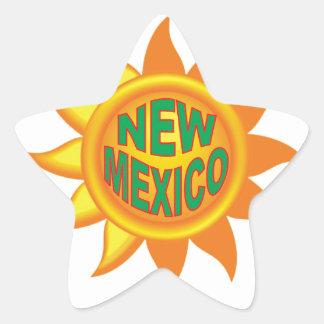 Pegatina En Forma De Estrella Sol de New México