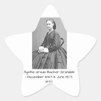 Pegatina En Forma De Estrella Soporte Grondahl, 1870 de Ágata Ursula