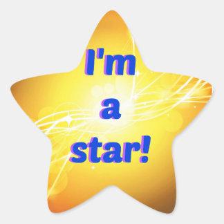 Pegatina En Forma De Estrella Soy pegatinas de una estrella, brillantes