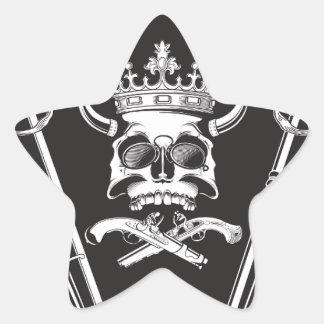 Pegatina En Forma De Estrella Sr. Skull