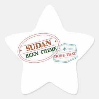 Pegatina En Forma De Estrella Sudán allí hecho eso