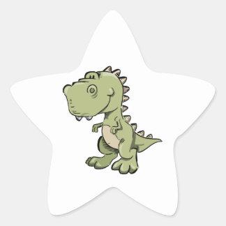Pegatina En Forma De Estrella T-Rex