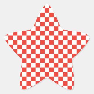 Pegatina En Forma De Estrella Tablero de damas rojo