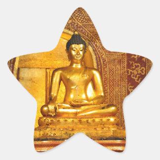 Pegatina En Forma De Estrella Tailandia Buda