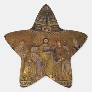 Pegatina En Forma De Estrella Templo del arco de la bóveda de la iglesia