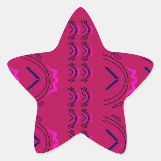 Pegatina En Forma De Estrella Textura de lujo de Oriente del vino