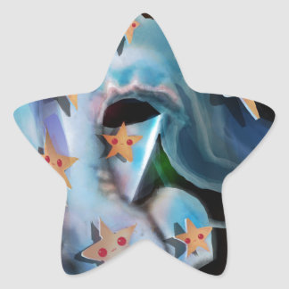 Pegatina En Forma De Estrella Tiburón-Hammerhead