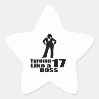 Pegatina En Forma De Estrella Torneado de 17 como Boss