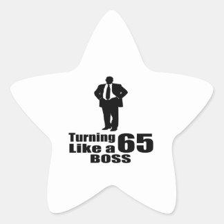 Pegatina En Forma De Estrella Torneado de 65 como Boss