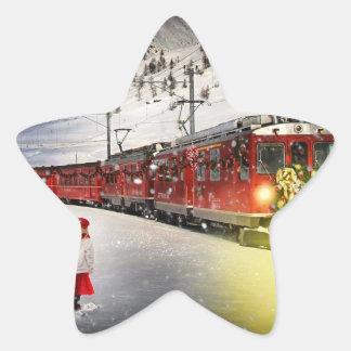 Pegatina En Forma De Estrella Tren expreso de santa del Polo Norte - el navidad