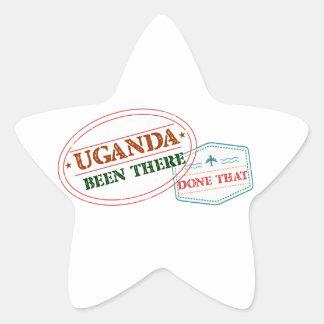 Pegatina En Forma De Estrella Uganda allí hecho eso