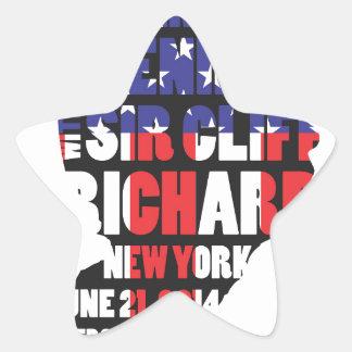 Pegatina En Forma De Estrella Una tarde con sir Cliff Richard