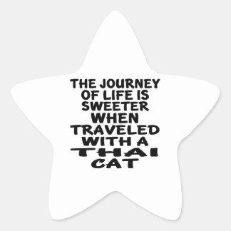 Pegatina En Forma De Estrella Viajado con el gato tailandés