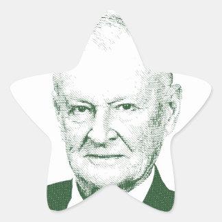 Pegatina En Forma De Estrella Zbigniew Brzezinski en dios que confiamos en