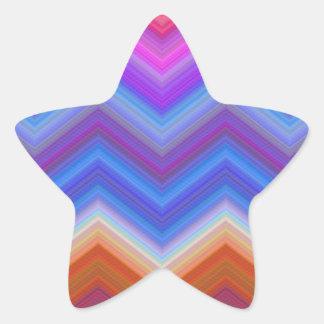 Pegatina En Forma De Estrella zigzag, colorido, divertido
