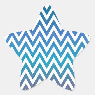 Pegatina En Forma De Estrella zigzag, colorido, divertido, azul y verde