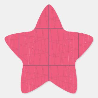 Pegatina En Forma De Estrella Zigzag rosado de los elementos del diseño