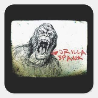 Pegatina enojado del gorila del azote del gorila