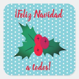 """Pegatina español de las Felices Navidad de """"Feliz"""
