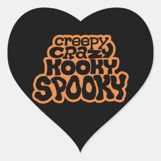 Pegatina Espeluznante-Loco-Kooky-Fantasmagórico