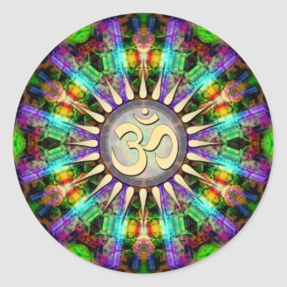 Pegatina espiritual de oro del arte de Aum de la