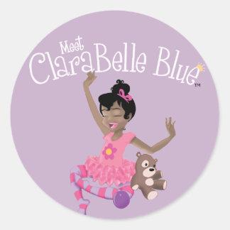 Pegatina feliz de ClaraBelle