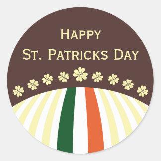 Pegatina feliz del día del St. Patricks